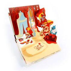 Momotaro - pop up by Icinori. Written and handmade illustrated by Icinori. Amazing!