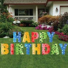 Happy Birthday Letters Yard Card