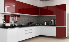 68 trendy kitchen decor red and black Kitchen Cupboard Designs, Kitchen Room Design, Best Kitchen Designs, Modern Kitchen Design, Interior Design Kitchen, Modern Kitchen Interiors, Modern Kitchen Cabinets, Red Kitchen Decor, Kitchen Styling