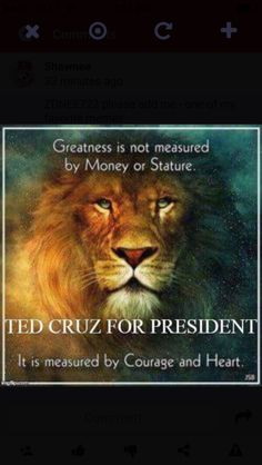 Ted Cruz for president. Isn't it time we had a president we could be proud of?