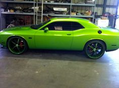 Dodge Charger Custom Paint Jobs | Formula 24s Staggered and Custom Painted - 2011 Dodge Challenger SRT8