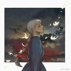 Howl's Moving Castle, Studio Ghibli Art, Studio Ghibli Movies, Totoro, Aesthetic Art, Aesthetic Anime, Howl And Sophie, Chihiro Y Haku, Arte Sketchbook