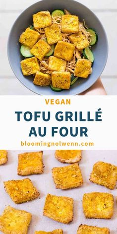 Looking for high-protein vegan meal ideas? Make this Crispy Baked Tofu! This tof… Looking for high-protein vegan meal ideas? Make this Crispy Baked Tofu! This tofu recipe is vegan, oil-free, crispy and delicious with everything. High Protein Vegetarian Recipes, Vegan Foods, Easy Healthy Recipes, Vegan Vegetarian, Whole Food Recipes, Protein Foods, Vegetarian Sweets, Protein Cake, Protein Muffins