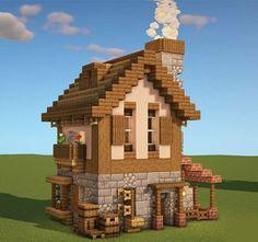 Minecraft House Plans, Minecraft Farm, Minecraft Mansion, Easy Minecraft Houses, Minecraft House Tutorials, Minecraft House Designs, Amazing Minecraft, Minecraft Construction, Minecraft Blueprints