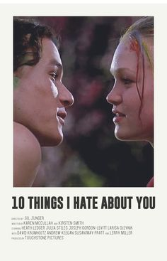 10 things I hate about you alternative poster - Based on the series of Andrew Sebastian Kwan. Iconic Movie Posters, Minimal Movie Posters, Minimal Poster, Movie Poster Art, Iconic Movies, Film Posters, Old Movies, Pulp Fiction, Posters Vintage
