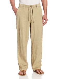 Margaritaville Men's Cabana Linen Pant at Amazon Men's Clothing store: Mens Linen Pants