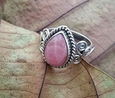 Gemstone ring - Page 2 of 22 - Buyerstops Archive Silver Rings Handmade, Sterling Silver Rings, Silver Jewelry, Handmade Jewelry, Gypsy Rings, Boho Rings, Bridesmaid Rings, Teardrop Ring, Pink Ring