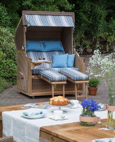 Awesome Blick ins Gr ne im strandkorb beachchair Lieblingsplatz im Garten Pinterest Gardens and Outdoor gardens