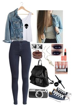 """""""Sin título #241"""" by fabiana-garban on Polyvore featuring moda, Casetify, H&M, Madewell, PARENTESI, Waterford, Chan Luu, maurices, Maybelline y Converse"""