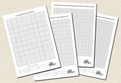 Free downloadable cross stitch grids. Not sure what exactly you;d print these on...maybe tracing paper?