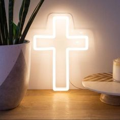 jesus cross baptism neon sign light Neon Signs For Sale, Custom Neon Signs, Neon Light Signs, Led Neon Signs, Have A Sweet Dream, Neon Sign Bedroom, Cross Wall Decor, Thing 1, Sign Lighting