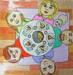 2nd Tar Beach Family Table Art Project - Birds Eye View