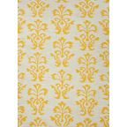 Flat-Weave Tribal Pattern Wool Yellow/Ivory Area Rug - mediterranean - rugs - by Jaipur Rugs Inc.