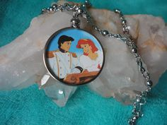 Disney Ariel The Little Mermaid Prince Eric Wedding Love necklace by ImAsMADaSaHaTTeR, $12.00
