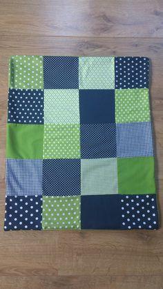 *Babydecke /Kinderwagendecke/Patchwork(blau/grün)* von * Creative Happiness * auf DaWanda.com