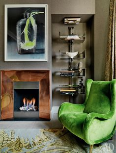 Photo ad_Jenny-lyn---Wandsworth--green-velvet-chair-and-bookshelves_.jpg
