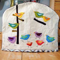 Made to Order Birdy Bird Cage Felt Applique Kitchen Aid Mixer Cover. $75.00, via Etsy.