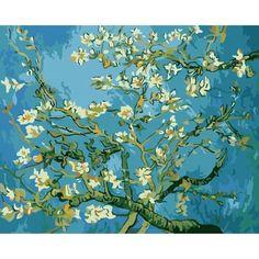 Van Gogh Pinturas, Kit Pintura, Paint By Number Kits, Paint Types, Acrylic Paint Set, Van Gogh Paintings, Diy Painting, Painting Canvas, Garden Painting