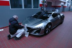 OMG. The new NSX. It's like a car from the future. Awesome!