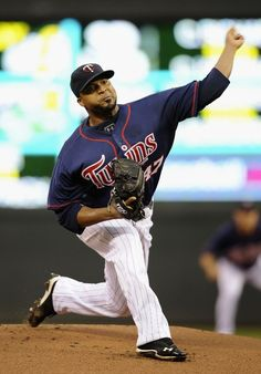 MINNEAPOLIS, MN - JULY 13: Francisco Liriano #47 of the Minnesota Twins delivers a pitch against the Oakland Athletics during the first inning on July 13, 2012 at Target Field in Minneapolis, Minnesot