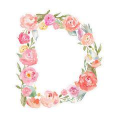 Silhouette Design Store: floral watercolor d