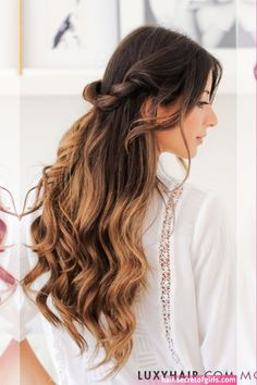 12 Most Elegant And Beautiful Wedding Hairstyles ❀ Bridal Hairstyles For Long Hair Tutorial Curly Wedding Hair, Wedding Hair Down, Best Wedding Hairstyles, Down Hairstyles, Bridal Hairstyles, Hairstyle Wedding, Wedding Hair Inspiration, Hair Blog, Stylish Hair