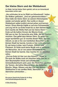 """Elke Bräunling. Der kleine Stern und der Waldadvent. Im Wald, hört der kleine Stern, soll es zur Adventszeit besonders schön sein. """"Am schönsten ist es zur"""