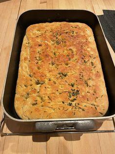 Heilt spesiell foccacia - Steike god mat - Bakverk som smaker God Mat, Lasagna, Mashed Potatoes, Macaroni And Cheese, Grilling, Salt, Food And Drink, Pizza, Bread