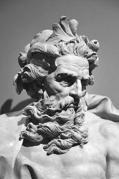 Greek Statues Black And White - - - - - Ancient Greek Sculpture, Greek Statues, Ancient Art, Buddha Statues, Stone Statues, Statue Tattoo, Zeus Statue, Poseidon Statue, Sculpture Romaine
