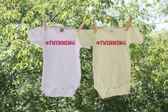 Twinning - set of two Infant Bodysuit for twins  ---------------------♥-ABOUT THIS LISTING-♥------------------- These are NOT transfers. We print