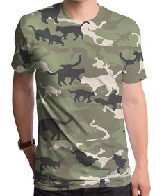 Take a look at this Green Cat Camouflage Sublimated Tee - Men's Regular today!