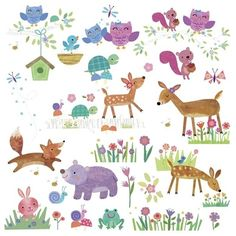 Dotty Hippo - Baby Deer and Friends Wall Stickers - Roommates, £13.00 (http://www.dottyhippo.co.uk/baby-deer-and-friends-wall-stickers-roommates/)