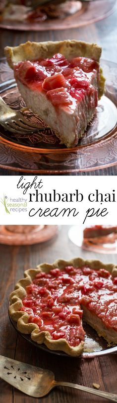 Blog post at Healthy Seasonal Recipes : Chai spices and tart rhubarb in my first pie on healthy seasonal recipes. It is made with creamy light yogurt filling thickened with gelatin[..]