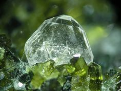 Fluorapatite with Epidote (green) - Austria / Mineral Friends <3