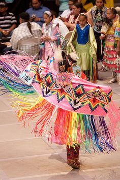 Colorful fancy shawl dancer at 2009 GON
