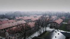 Aerial video of Auschwitz-Birkenau