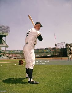 Outfielder Roger Maris of the New York Yankees poses for a portrait circa in Yankee Stadium in Bronx, New York. Get premium, high resolution news photos at Getty Images Yankees Fan, New York Yankees Baseball, Damn Yankees, Yankees News, Mlb Players, Baseball Players, Baseball Teams, Baseball Stuff, Soccer Jerseys