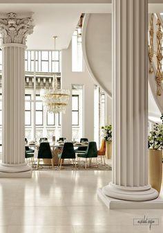 Home Decor Classic Interior House Design, Luxury Furniture Design, Luxury Home Decor, Luxury Living Room, Luxury Decor, Interior Design, Neoclassical Interior, House Interior, Luxury Homes