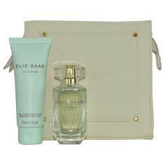 Elie Saab Le Parfum L'eau Couture EDT Spray 1.6 oz & Body Lotion 2.5 oz & Pouch #ElieSaabLeParfumLeauCouture