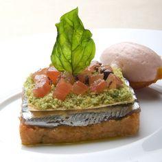 Ricette di Grandi Chef: Alici fresche con pappa e sorbetto al pomodoro | ItaliaSquisita.net