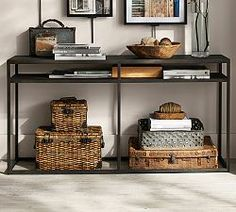 Decorating In Small Spaces & Small Space Ideas | Pottery Barn Console Table $499.00