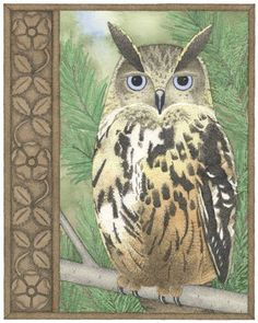 'Blodeuwedd The Owl' by Carrie Wild