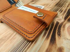 Leather wallet Leather wallets for men Leather by DMleatherUA