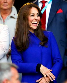 Kate Middleton Dons Royal Blue Coat for Rugby World Cup 2015 - Us Weekly