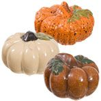Mini Ceramic Pumpkin Decorations
