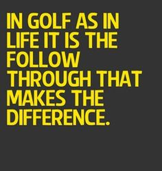 Follow through. #Golf #Life