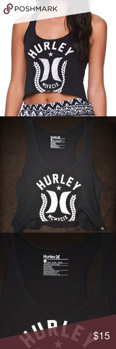 Hurley Crop Tank Super cute Hurley crop tank - size large but can fit small/medium Hurley Tops Crop Tops