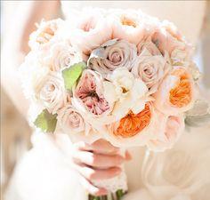 aboutdetailsdetails.com | Wedding Bouquet | Bridal Bouquet | Wedding Flowers | White Dress | White Roses | Rose Bouquet | Rose Bridal Bouquet | Blush Roses | White and Blush Bouquet |