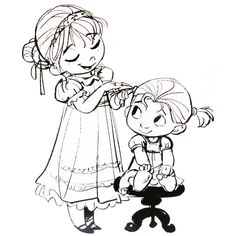12 best sketches images drawings character design disney drawings Disney Coronation Elsa frozen 2013 concept art anna and elsa as toddlers