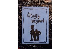 To Infinity & Beyond Painted Wooden Signs, Hand Painted, Wooden Signs With Quotes, Motivation For Kids, Infinity, Cinema, Painting, Art, Movie Theater